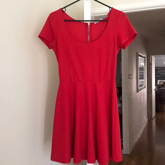 stradivarius Dresses & Skirts - Stradivarius Red Skater Dress